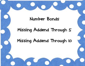 Number Bonds Through 5 and Through 10