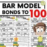 Number Bonds To 100: Bar Model Practise Sheets