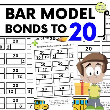 Number Bonds To 20: Bar Model Practise Sheets