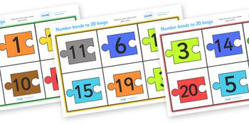 Number Bonds To 20 Bingo Jigsaw