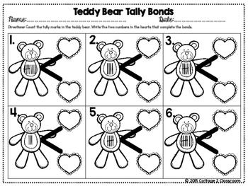 Number Bonds: Valentine Math Activities