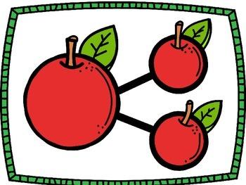 Number Bonds Work Mats- Apples