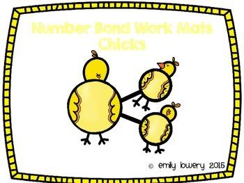 Number Bonds Work Mats- Chicks