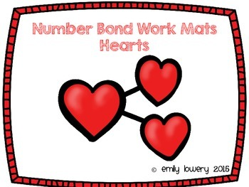 Number Bonds Work Mats- Hearts