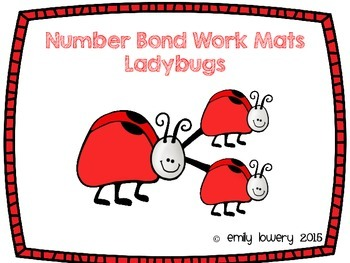 Number Bonds Work Mats- Ladybugs