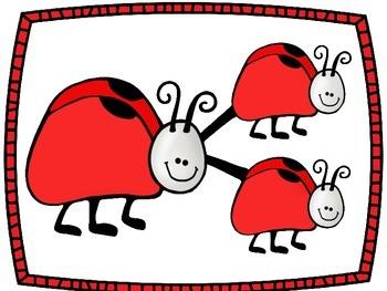 Number Bonds Work Mats- Ladybugs