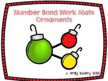 Number Bonds Work Mats- Ornaments