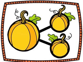 Number Bonds Work Mats- Pumpkins