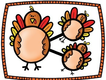 Number Bonds Work Mats- Turkeys