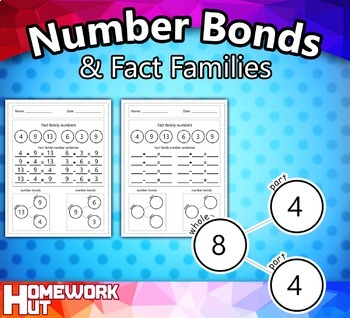 Number Bonds and Fact Families Worksheets