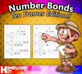 Number Bonds to 10 (Ten Frames) Worksheets