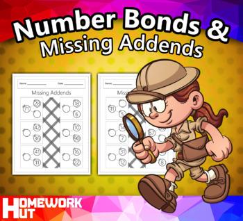 Number Bonds and Missing Addends Worksheets