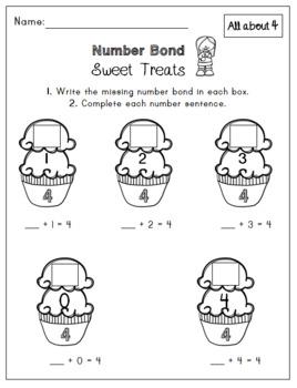Number Bonds: Worksheets for numbers 2-5