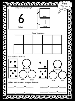 Number Bonds to 10 and to 20  Worksheet Journal Common Core Combination Practice