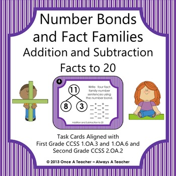 Number Bonds and Fact Families:  Addition and Subtraction Facts to 20