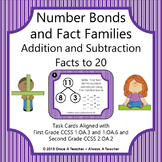Task Cards • Number Bonds/Fact Families •  Addition and Subtraction Facts to 20