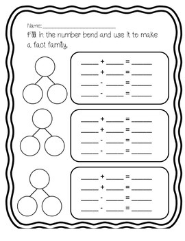 Number Bonds and Fact Families Practice