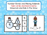 Number Bonds and Missing Addends within 10 Snowman Theme