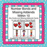 Number Bonds and Missing Addends within 10 Valentine Theme