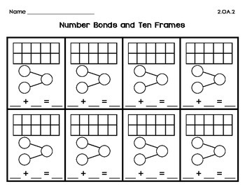 Number Bonds and Ten Frame Numbers