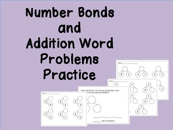 Number Bonds and Word Problems Practice Pages
