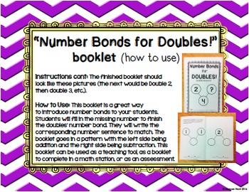FREEBIE - Number Bonds for Doubles! {A booklet for doubles facts to 5}