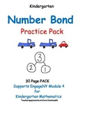 Number Bonds for Kindergarten: 30 pg PACK: with Take-Home Book Supports EngageNY