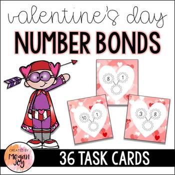 Number Bonds: A Valentines Day Math Center