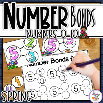 Number Bonds for numbers 1-10 - Spring Themed