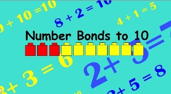 Number Bonds from 5 to 10 Smartboard Lesson and Matching Printables