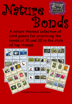 Number Bonds of 10 and 20, Nature Theme Birds and Flowers