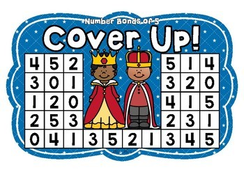 Number Bonds of 5 Cover Up! Fairy Tale Theme