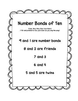Number Bonds of Ten Song