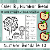 Number Bonds to 10 - Color By Number Bond (Apple Theme)