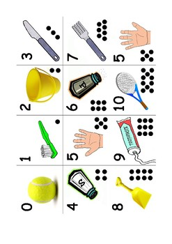 Number Bonds to 10 - Matching Pairs Game