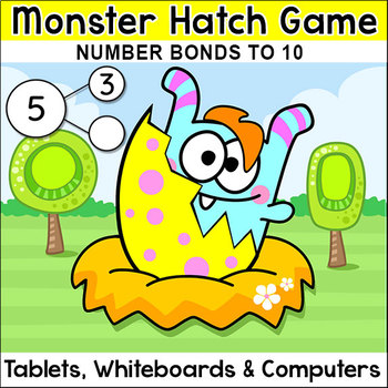 Number Bonds to 10 Monster Hatch Digital Game - Tablets, Smartboards, Computers