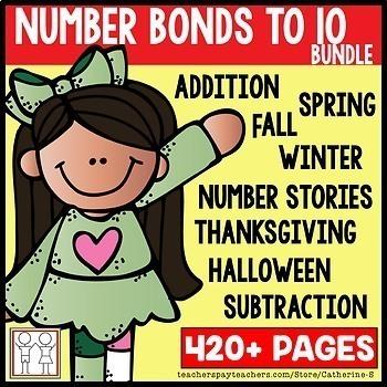 BUNDLE: Number Bonds Kindergarten