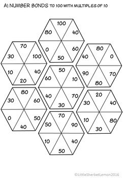 Number Bonds to 100 Puzzles / Jigsaws now with Boom Cards