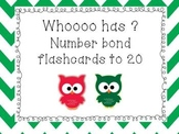 Number Bonds to 20 Flash Cards