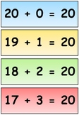 Number Bonds to 20 - Simple Display Cards