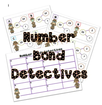 Number Bonds to 20 Treasure Hunt Dectectives
