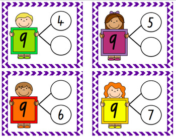 Number Bonds to 20 Write and Wipe Cards