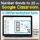 Number Bonds to 20 for Google Classroom, Google Slides Dis