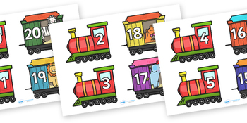 Number Bonds to 20 on Trains and Carriages