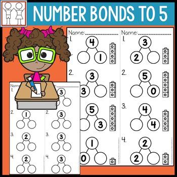 Number Bonds to 5 Worksheets