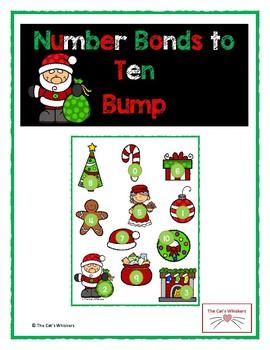 Number Bonds to Ten Bump Christmas