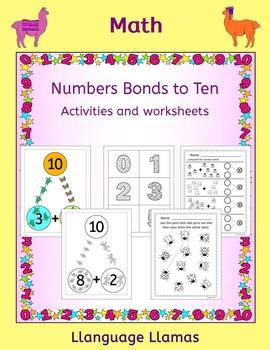 Number Bonds to Ten worksheets, posters and activities