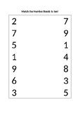 Number Bonds to Ten Matching