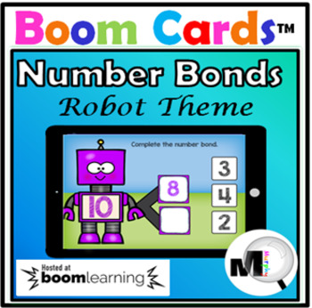 Number Bonds to Ten – Robot Theme – Boom Cards