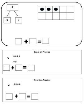 Number Bonds using Tens Frames